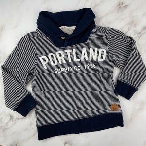 Toddler Boys H&M Shawl Collar Sweatshirt